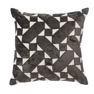 Nikki Chu Danceteria Black/Ivory Geometric Poly Throw Pillow 22 inch