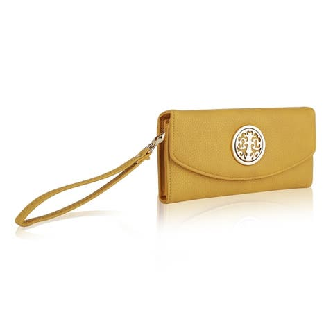 MKF Collection by Mia K. Camilla Zip and Snap Wallet