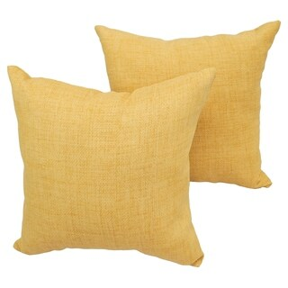 Wheat Basket 17-inch Indoor/Outdoor Throw Pillow (Set of 2)