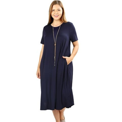 29fe64e68e96b Buy Blue Women's Plus-Size Dresses Online at Overstock | Our Best ...