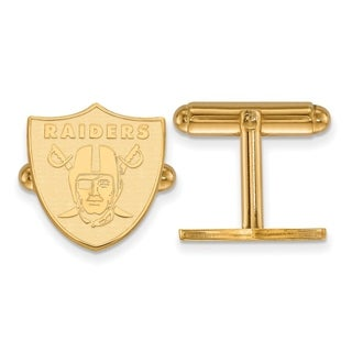 LogoArt Gold Plated Oakland Raiders Cuff Links