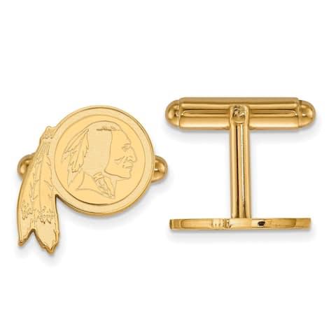 Versil LogoArt Gold Plated Washington Redskins Cuff Links