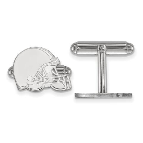Versil LogoArt Sterling Silver Cleveland Browns Cuff Links