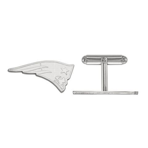 Versil LogoArt Sterling Silver New England Patriots Cuff Links