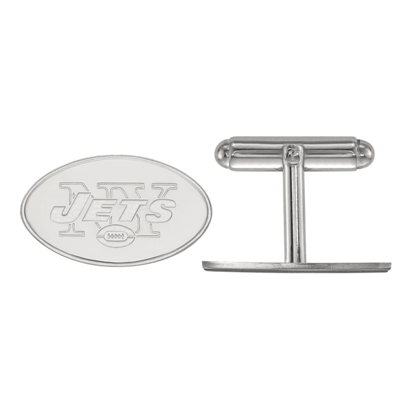 Versil LogoArt Sterling Silver New York Jets Cuff Links