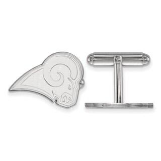 Versil LogoArt Sterling Silver Los Angeles Rams Cuff Links