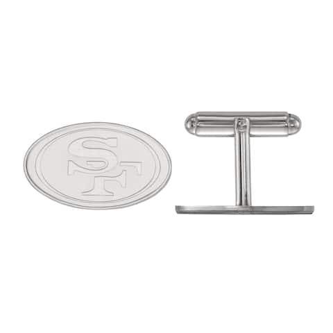 Versil LogoArt Sterling Silver San Francisco 49ers Cuff Links
