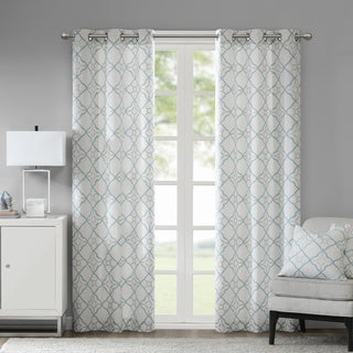 Link to Madison Park Jax Cotton Printed Curtain Panel Pair Similar Items in Window Treatments