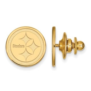 Gold Plated Sterling Silver Pittsburgh Steelers Lapel Pin