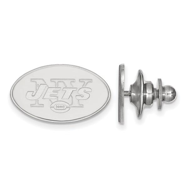 Versil Sterling Silver New York Jets Lapel Pin