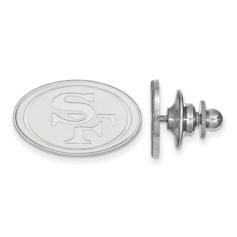 Versil Sterling Silver San Francisco 49ers Lapel Pin