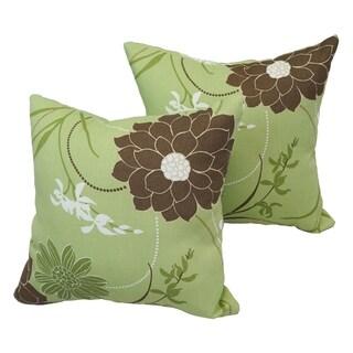 Osaka Garden 17-inch Indoor/Outdoor Throw Pillow (Set of 2)