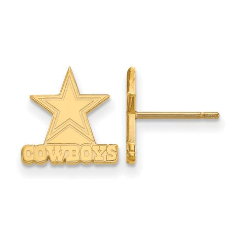 Versil Gold Plated Sterling Silver Dallas Cowboys Extra Small Post Earring