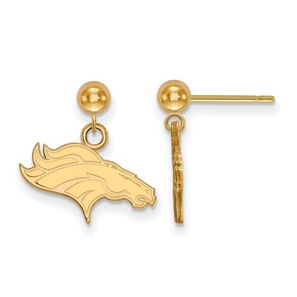 Gold Plated Sterling Silver Denver Broncos Earring Dangle Ball