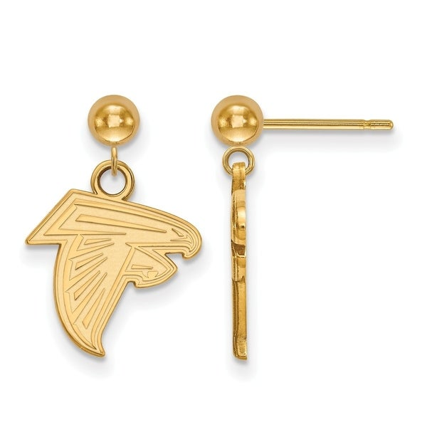 Gold Plated Sterling Silver Atlanta Falcons Earring Dangle Ball