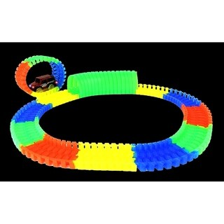 Glow In The Dark Toy Car Loop Track Set