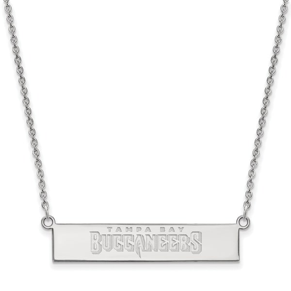 17ae41dba Shop Versil Sterling Silver Tampa Bay Buccaneers Small Bar Necklace - Free  Shipping Today - Overstock - 20608899