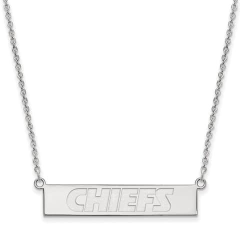 Versil Sterling Silver Kansas City Chiefs Small Bar Necklace