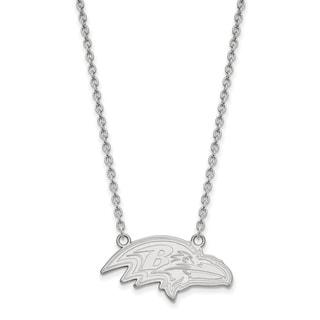 Versil Sterling Silver Baltimore Ravens Large Pendant Necklace