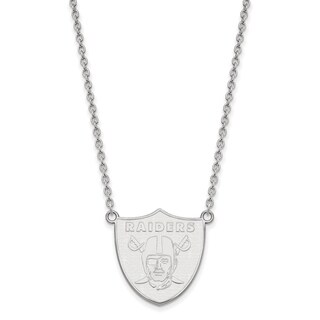 Sterling Silver Oakland Raiders Large Pendant With Necklace