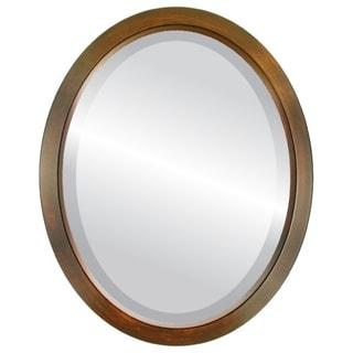 Regatta Framed Oval Mirror in Mocha