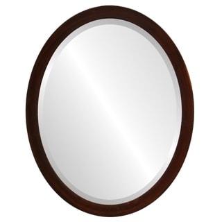 Manhattan Framed Oval Mirror in Mocha
