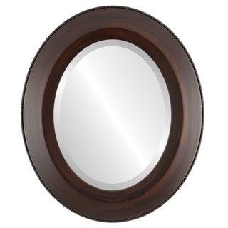 Lombardia Framed Oval Mirror in Mocha