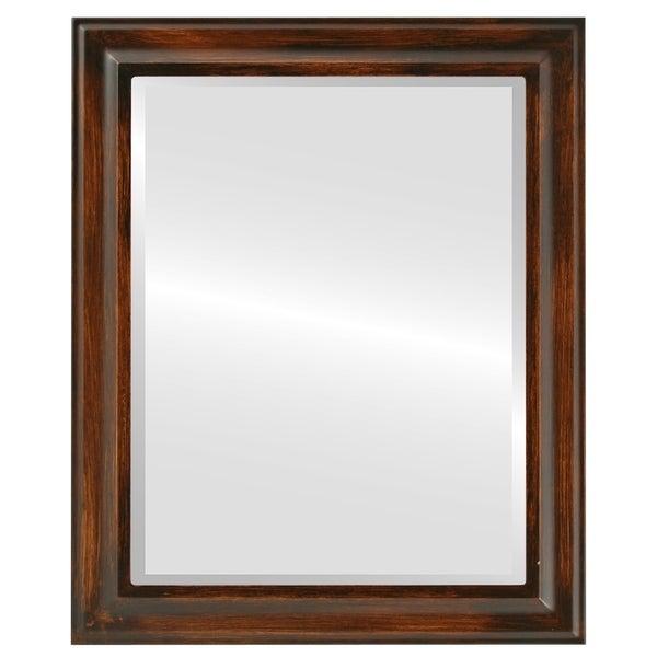 Messina Framed Rectangle Mirror in Mocha