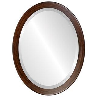 Vienna Framed Oval Mirror in Mocha