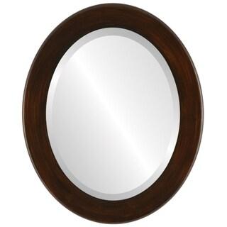 Avenue Framed Oval Mirror in Mocha