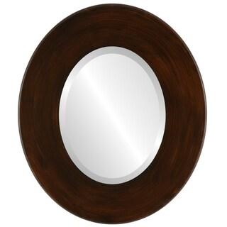 Boulevard Framed Oval Mirror in Mocha