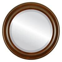 Messina Framed Round Mirror in Mocha