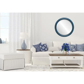 Pasadena Framed Round Mirror in Royal Blue