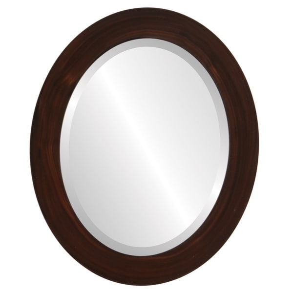 Soho Framed Oval Mirror in Mocha