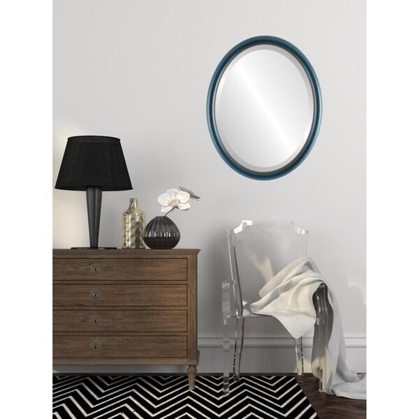 Pasadena Framed Oval Mirror in Royal Blue
