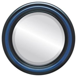 Philadelphia Framed Round Mirror in Royal Blue