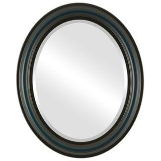 Philadelphia Framed Oval Mirror in Royal Blue