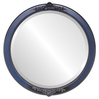 Athena Framed Round Mirror in Royal Blue