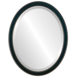 Toronto Framed Oval Mirror in Royal Blue
