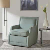Madison Park Malcolm Blue/ Green Swivel Chair