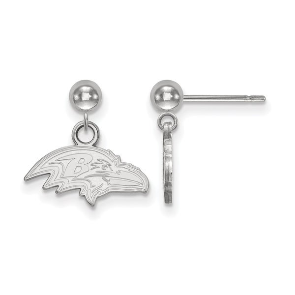 476dc1245 Shop Versil Sterling Silver Baltimore Ravens Earring Dangle Ball - Free  Shipping Today - Overstock - 20609334