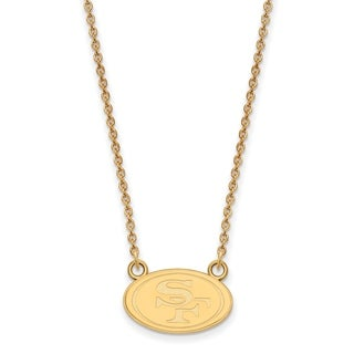 Versil Gold Plated Sterling Silver San Francisco 49ers Small Pendant Necklace