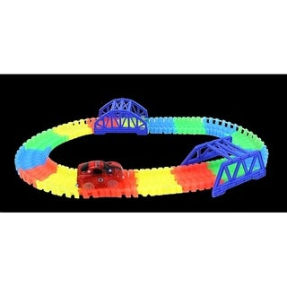 Glow In The Dark Action Track Toy Car Bridge Loop Playset