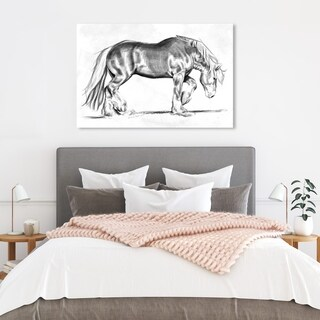 Hatcher and Ethan '15139' Farmhouse, Equestrian Canvas Art - gray