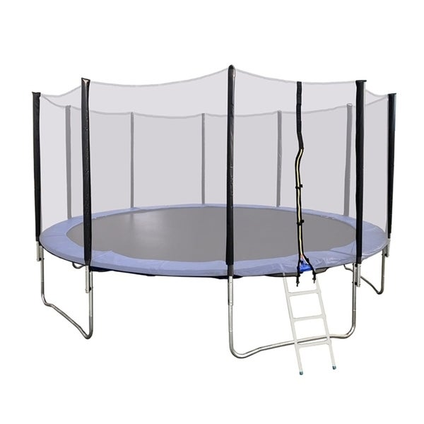 Shop ALEKO 16 Foot Trampoline With Safety Net And Ladder