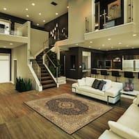 "Black Ivory Persian Contemporary Polypropylene Indoor Area Rug - 5'3"" x 7'5"""