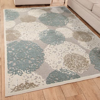 Furniture of America Lansbury Brocade Medallions Accent Rug