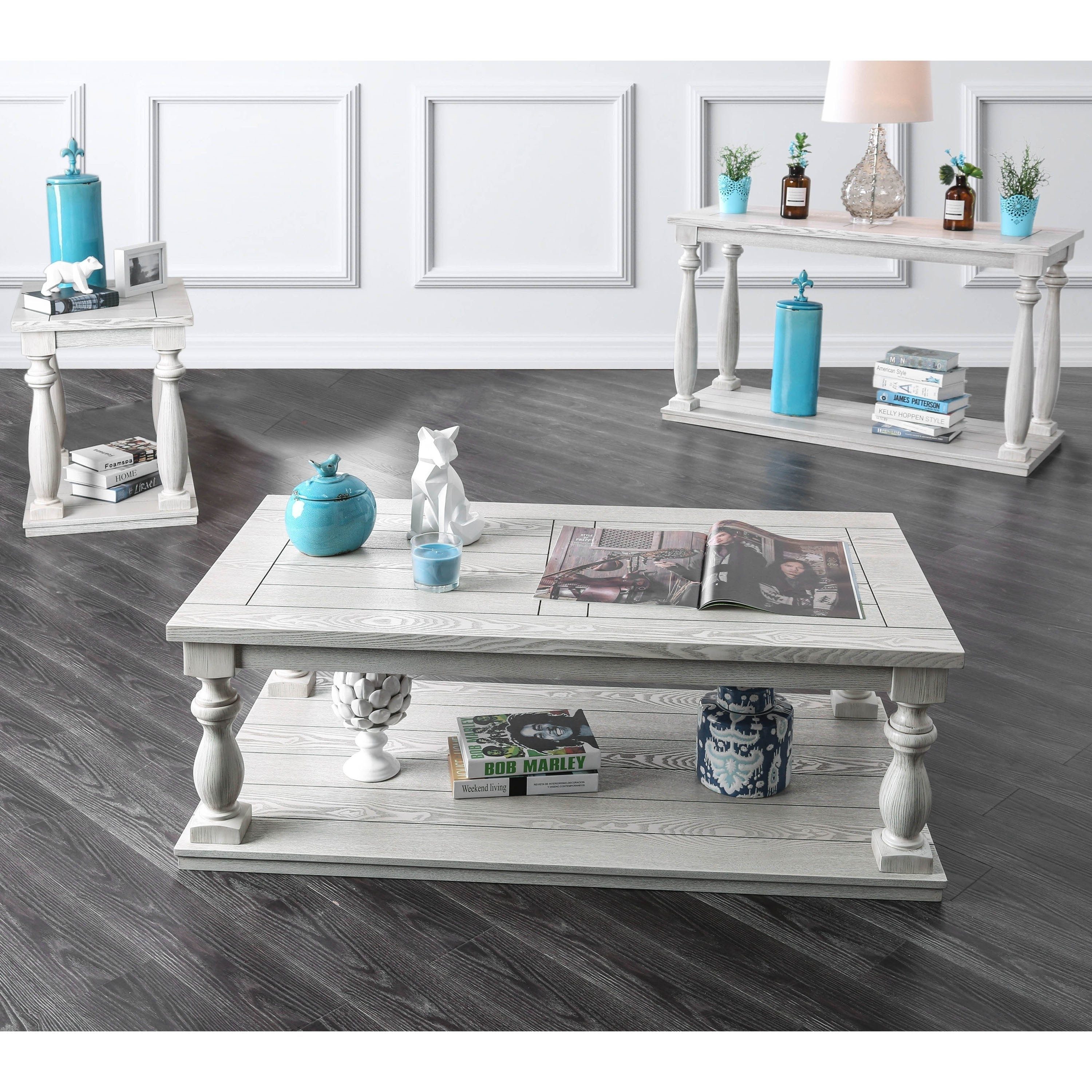 - Shop Furniture Of America Tost Rustic White Solid Wood 1-shelf