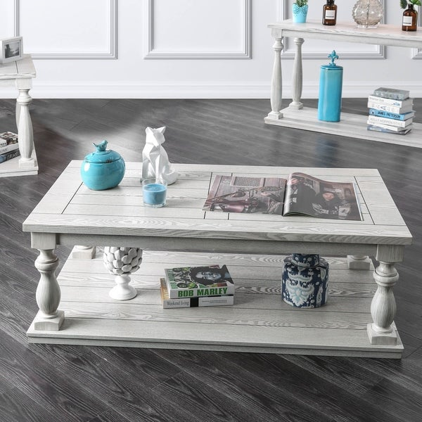 Overstock White Coffee Table.Shop Franklin Rustic Antique White Coffee Table By Foa On Sale