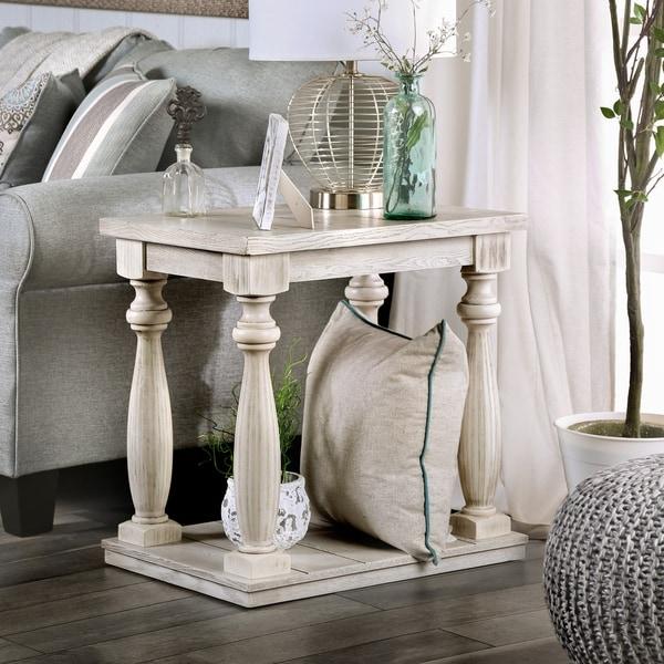 Shop Furniture Of America Franklin Rustic Antique White